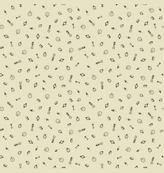 time hand drawn seamless pattern background vector image