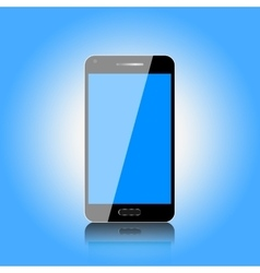 Touch screen mobile phone vector
