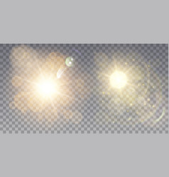 Two foggy light effects vector