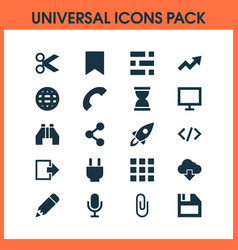 User icons set collection of cloud mike pin and vector