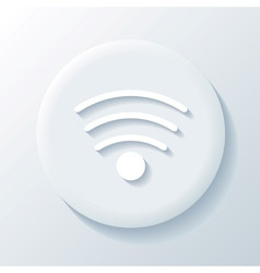 Wi-fi 3D Paper Icon vector image vector image