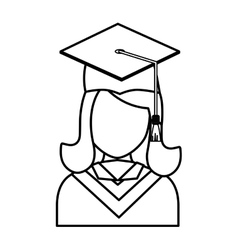 Young student graduation vector image vector image