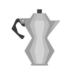 Steel kettle coffee tea cookware vector