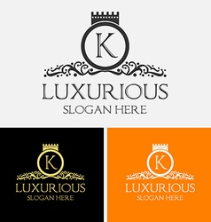 Luxurious Logo vector image