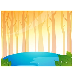 Tree woods and pond vector