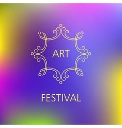 Art festival logo vector