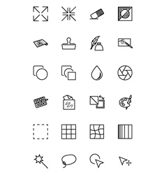 Art design and development icons 2 vector