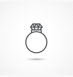 Diamond ring icon vector