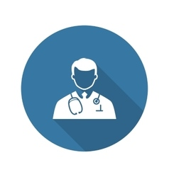 Doctor icon flat design vector