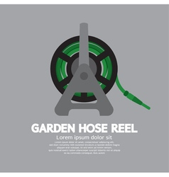 Side view of garden hose reel vector