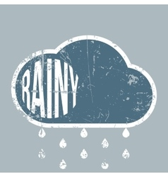 Rainy vintage grunge Weather Background vector image