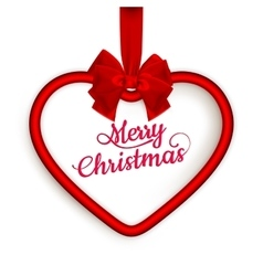Christmas Heart frame EPS 10 vector image