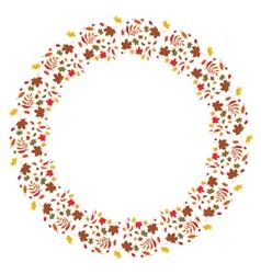 autumnal frame vector image