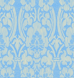 Blue light abstract striped floral pattern vintage vector