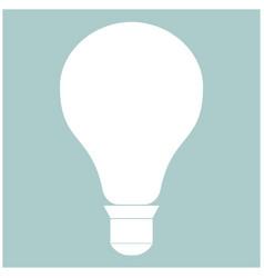 Bulb the white color icon vector