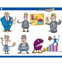Businessmen cartoon concepts set vector
