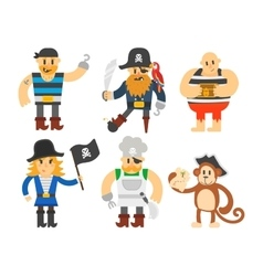Cartoon pirate character vector image vector image