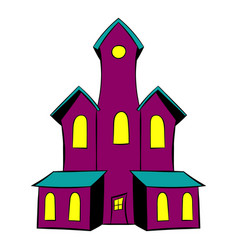 castle icon cartoon vector image