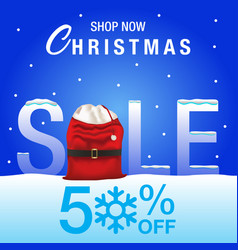 christmas sale background vector image vector image