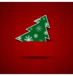 Christmas tree postcard vector image vector image