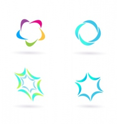 circle icons vector image vector image