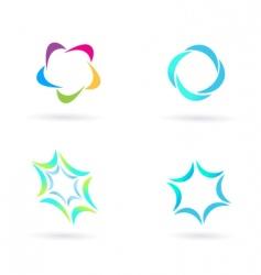 circle icons vector image