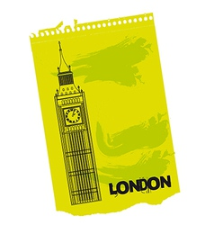 Clock Tower of London vector image