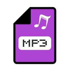 Computer mp3 file icon vector