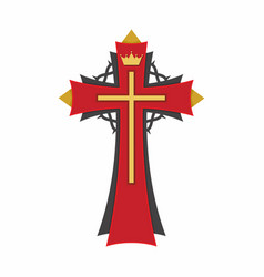 cross of the lord and savior jesus christ vector image