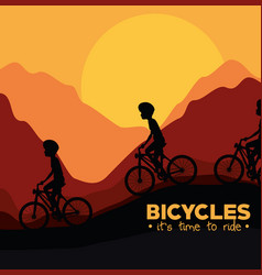 Cycling infographic design vector