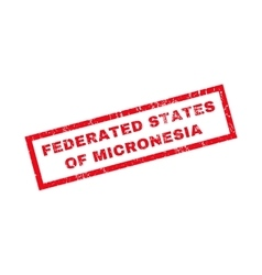 Federated states of micronesia rubber stamp vector
