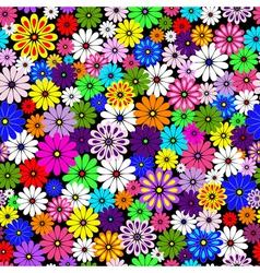 floral patten vivid vector image vector image