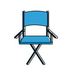 Folding chair icon image vector