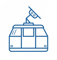 Funicular or cable car icon vector