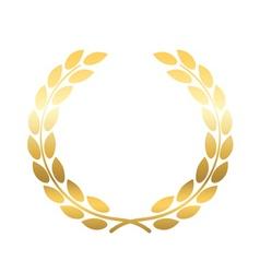 Gold laurel wheat wreath icon vector image vector image