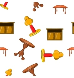 Home environment pattern cartoon style vector