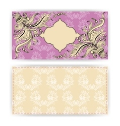 horizontal template for greeting card vector image vector image