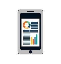 Infographic smartphone document site icon vector
