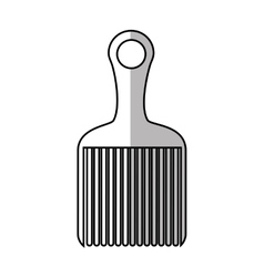 Isolated hair comb design vector image vector image