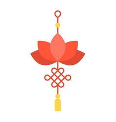 Lotus chinese knot vector