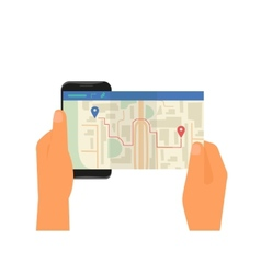 Mobile app for gps navigation vector image vector image
