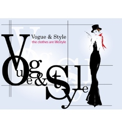 Modern poster girl fashion vector