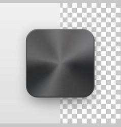mrtal black app icon template vector image vector image