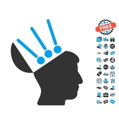 Open Mind Interface Icon With Free Bonus vector image vector image