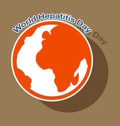 Paper sticker on theme world hepatitis day vector