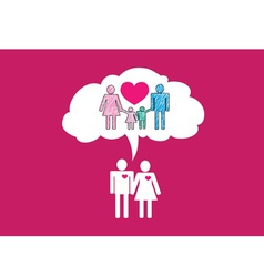People Family icon Pictogram People vector image vector image