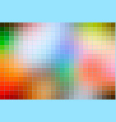 Rainbow colors mosaic square tiles background vector