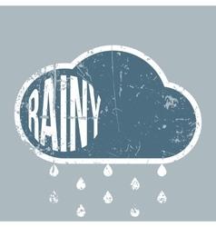 Rainy vintage grunge weather background vector