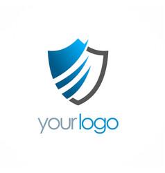shield secure logo vector image