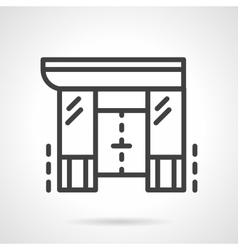 Shopping center black line design icon vector image